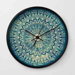 BLUE ORGANIC MANDALA Wall Clock