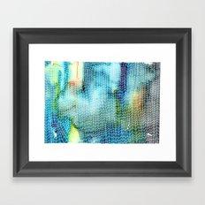 Woven Watercolor Framed Art Print