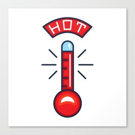 Hot Thermometer Illustration Canvas Print