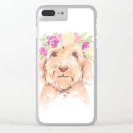 golden doodle watercolor Clear iPhone Case