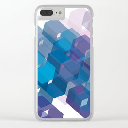 3D-blocks Clear iPhone Case