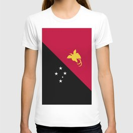 Papua New Guinea flag emblem T-shirt