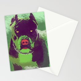 Friendly Pitbull 2 Stationery Cards