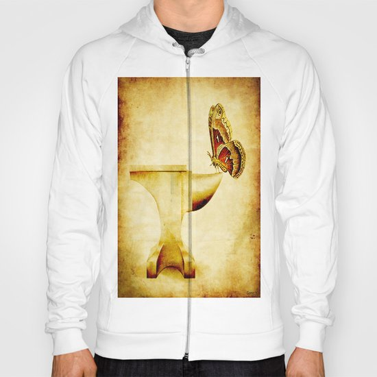 The anvil and the butterfly Hoody