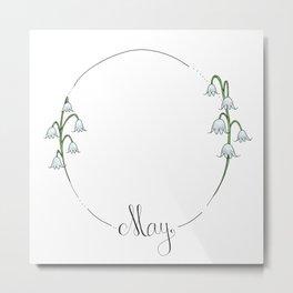 May - Flower Months  Metal Print