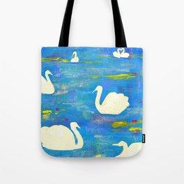 7 Swans A Swimming Tote Bag