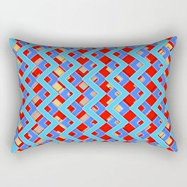 044 Abstract red, cyan and red art for home decoration Rectangular Pillow