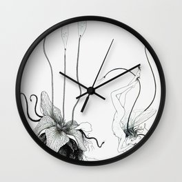 Floating Candle Plant Wall Clock
