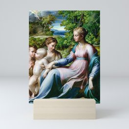 Parmigianino Virgin and Child with St. John the Baptist and Mary Magdalene Mini Art Print
