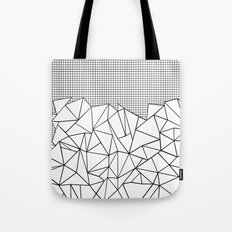 Abstract Outline Grid Black on White Tote Bag