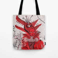 Woman Wolf Tote Bag