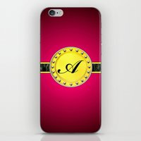 monogram iPhone & iPod Skins featuring Monogram by Precious Art Print