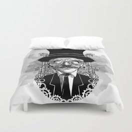 Steampunk Man Duvet Cover