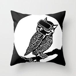 VR Owl Throw Pillow
