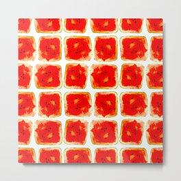 Watermelon cubism Metal Print