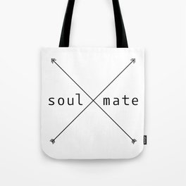 Soulmate arrow Tote Bag