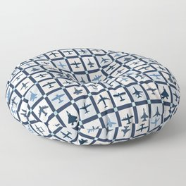 Quilt Squares Air Force Aircraft Floor Pillow