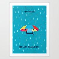 Bruce Almighty Minimalist Poster Art Print