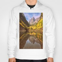mountains Hoodies featuring mountains. Mirror Lake by 2sweet4words Designs