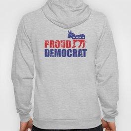 Proud Democrat Donkey Distressed Hoody