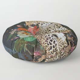 golden age leopard Floor Pillow