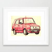 golf Framed Art Prints featuring Golf by withapencilinhand