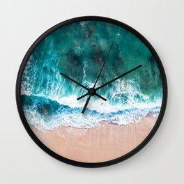 Aqua Green Ocean Art Wall Clock