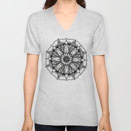 Flower Mandala Unisex V-Neck