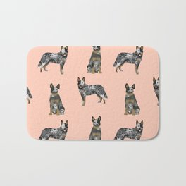 Australian Cattle Dog blue heeler dog breed gifts for cattle dog owners Bath Mat