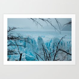 Blue Ice Art Print