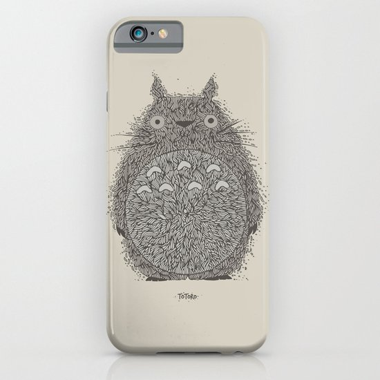 Cream Totoro iPhone & iPod Case