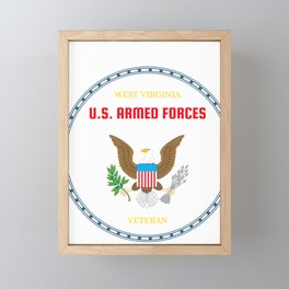 West Virginia U.S. Armed Forces Veteran Framed Mini Art Print