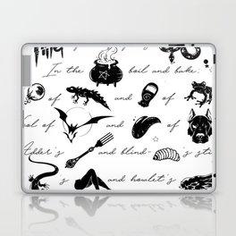 Macbeth Witches Chant Laptop & iPad Skin