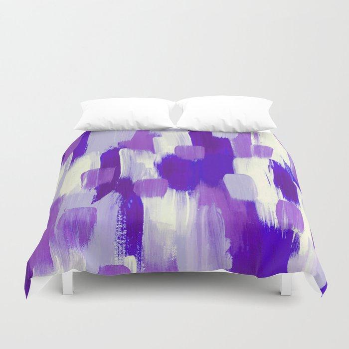 Purple Cora Duvet Cover