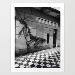 Crouching Grasshopper Art Print