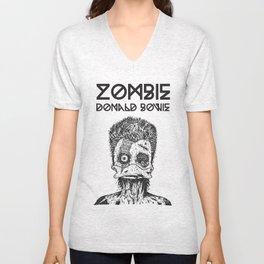 Zombie Donald Bowie Unisex V-Neck