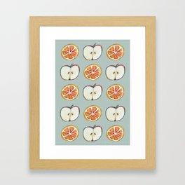 Comparing Apples to Oranges Framed Art Print