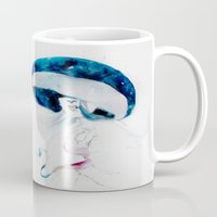 jellyfish Mugs featuring jellyfish by Leilalilium