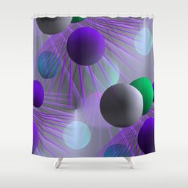 funny balls -02- Shower Curtain