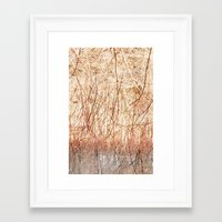 ombre Framed Art Prints featuring Ombre  by Yaara Ben-Dor