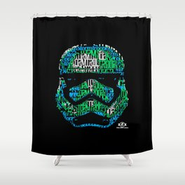 Stormtrooper Typography Shower Curtain