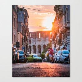 Rome Runner Canvas Print
