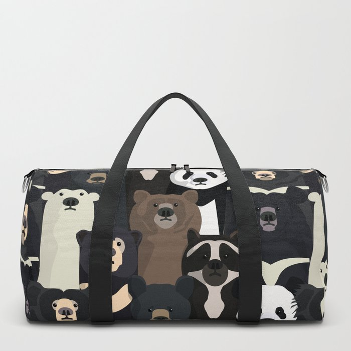 Bears of the world pattern Duffle Bag