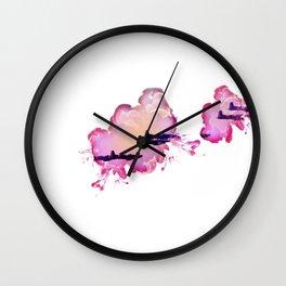 Pink Air Wall Clock