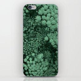 Green Laceflower iPhone Skin