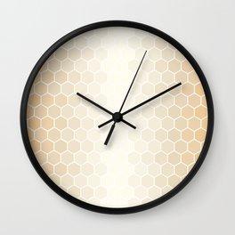Orange Tiles Wall Clock