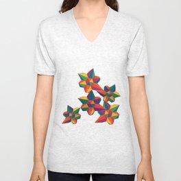 Hexagon Explosion Unisex V-Neck