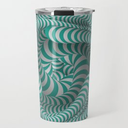 Mint green stripe illusion design Travel Mug