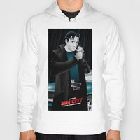sin city Hoodies featuring Sin City-Dwight by Szoki