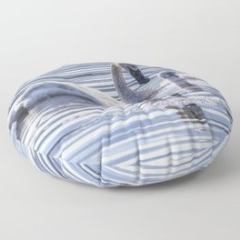 Cygnet with Mother Floor Pillow
